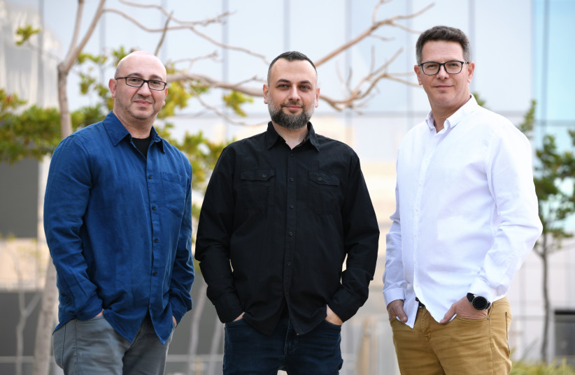 (L-R) Cyberfish co-founders Eugene Geht, Dima Kagan, and Amit Israel  (photo credit: Courtesy)