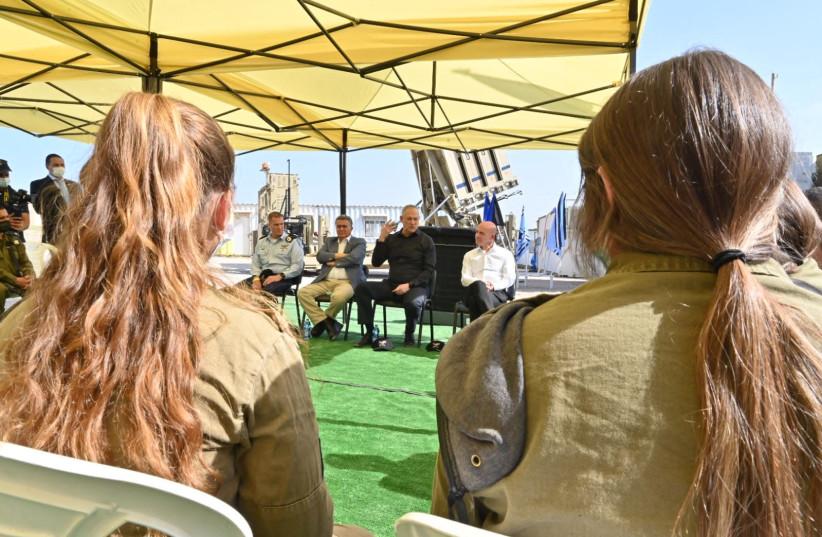Benny Gantz celebrates 10 years of Iron Dome. (photo credit: IDF SPOKESPERSON'S UNIT)