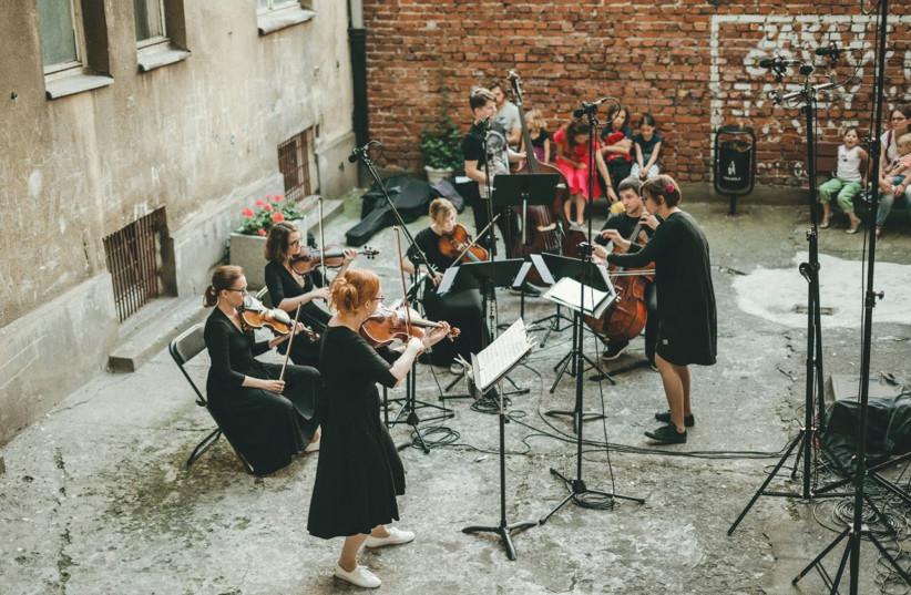MUSICIANS PLAY during the WarszeMuzik Festival Warsaw, Poland. (photo credit: ANITA WASIK-PLOCINSKA)
