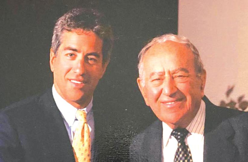 SYLVAN ADAMS and his father Marcel. (photo credit: COURTESY SYLVAN ADAMS)