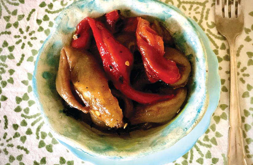 Pascale's roasted peppers (photo credit: PASCALE PEREZ-RUBIN)