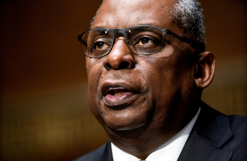 Retired General Lloyd Austin testifies before the Senate Armed Services Committee during his confirmation hearing to be the next Secretary of Defense in the Dirksen Senate Office Building in Washington, US. January 19, 2021. (photo credit: JIM LO SCALZO/POOL VIA REUTERS)