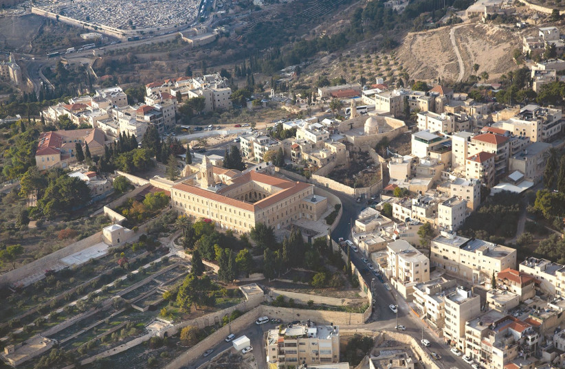 Aerial view of east Jerusalem (photo credit: MOSHE SHAI/FLASH90)
