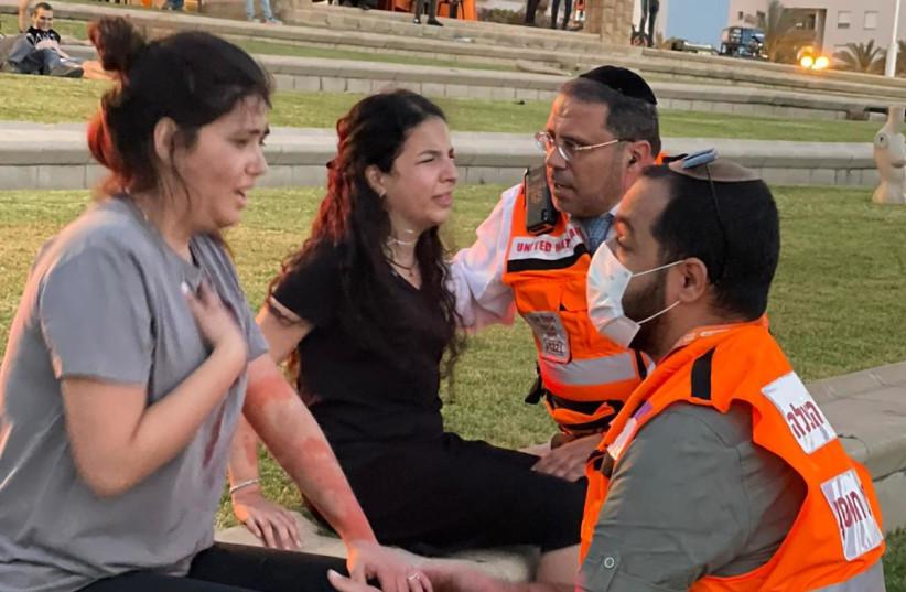 Israel medics, hospital simulate terror scenario in surprise drill (photo credit: UNITED HATZALAH)
