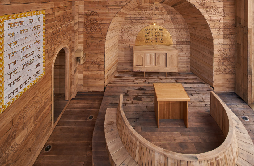 The first Jewish prayer space at Babyn Yar. (photo credit: BYHMC)