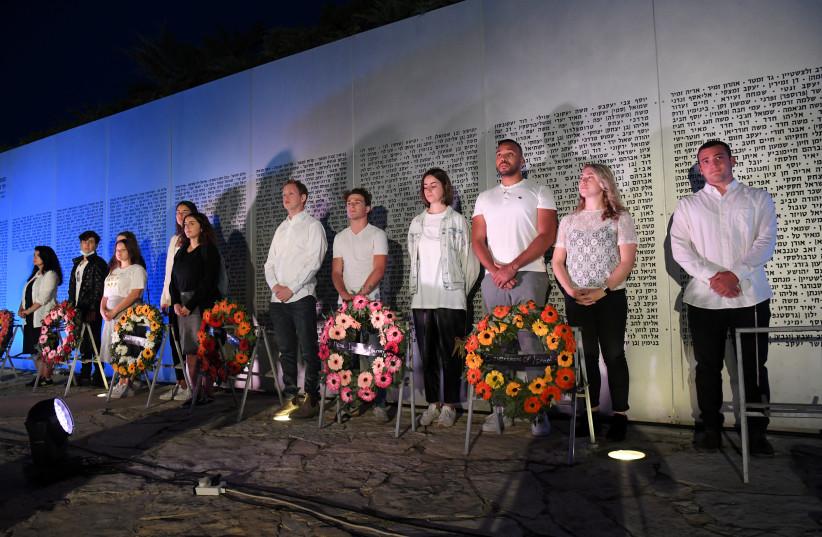 Masa Fellows participate in memorial ceremony at Latrun (photo credit: YOSSI ZELIGER)