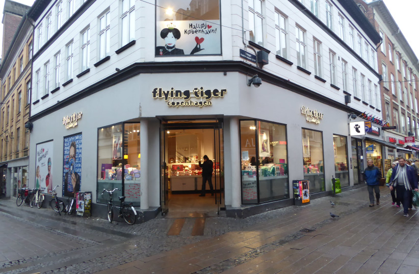 A branch of the variety store Flying Tiger Copenhagen (photo credit: LEIF JØRGENSEN/WIKIMEDIA COMMONS)