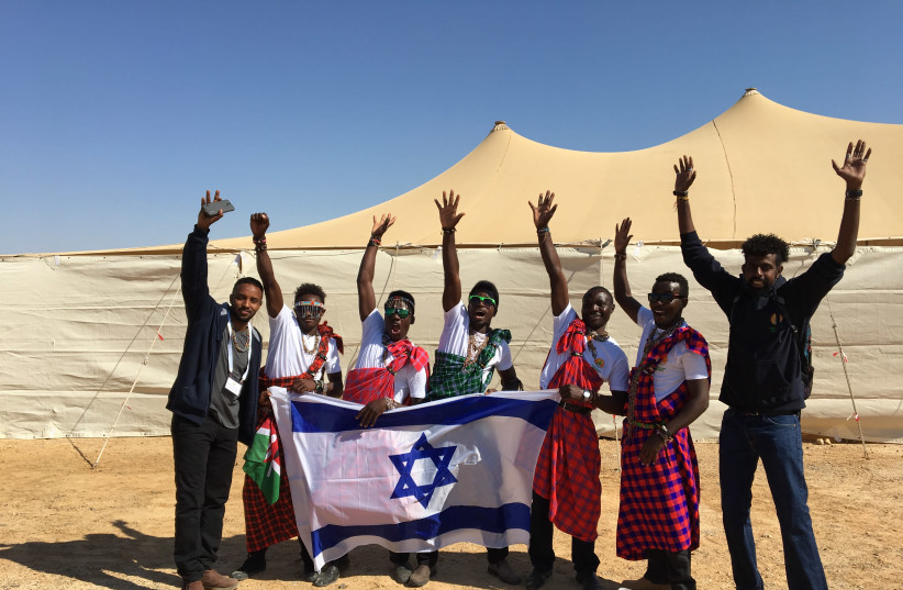 AICAT students enjoy their time learning in Israel. (photo credit: JNF-USA)
