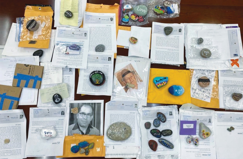 SOME OF THE decorated stones and dozens of letters from bereaved families living in New York that were collected by the Consulate-General have been sent to Israel to be placed on graves on Remembrance Day. (photo credit: CONSULATE GENERAL IN NEW YORK)