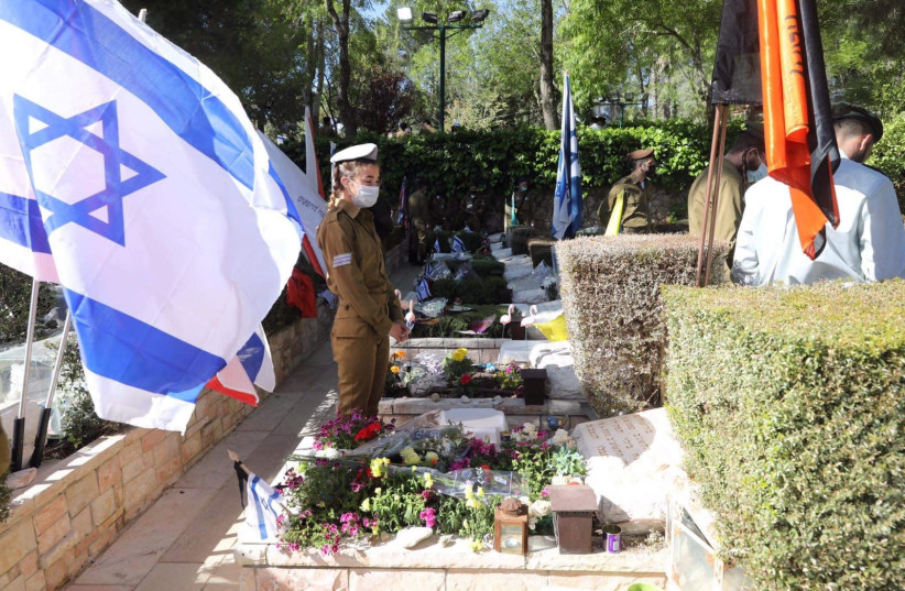 Remembrance day 2021 on Mount Herzl (photo credit: MARC ISRAEL SELLEM)