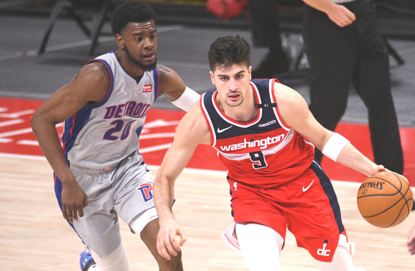 DENI AVDIJA is averaging 6.5 points, 4.9 rebounds, 1.2 assists and 23.5 minutes in 50 games played so far in his NBA rookie season with the Washington Wizards. (photo credit: TIM FULLER/USA TODAY SPORTS)
