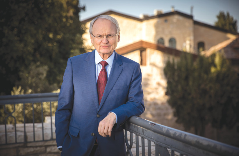 MORTON A. KLEIN, president of the Zionist Organization of America, poses for a picture in Jerusalem in 2017. (photo credit: YONATAN SINDEL/FLASH90)