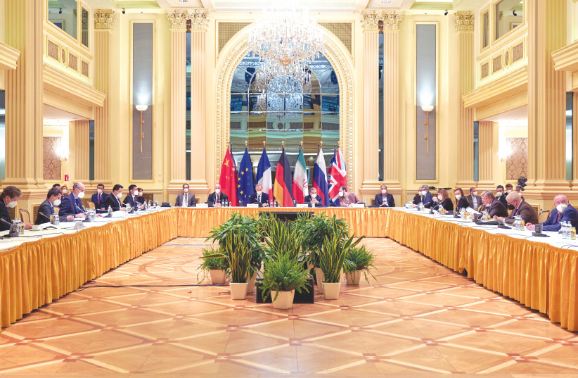 A RECENT MEETING of the JCPOA Joint Commission in Vienna. Can Israel convince the Biden administration to stop its race back to the deal? (photo credit: REUTERS)