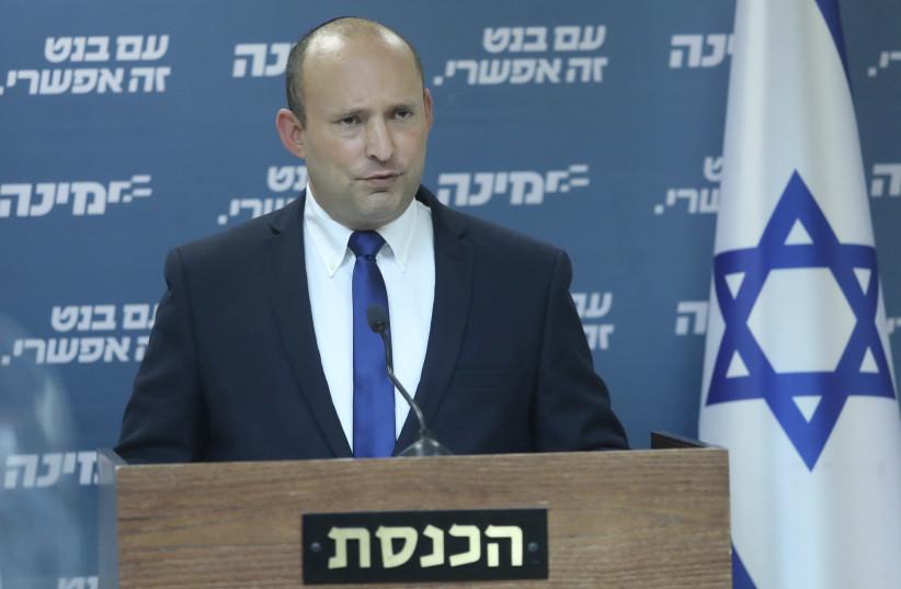 Yamina leader Naftali Bennett. (photo credit: MARC ISRAEL SELLEM/THE JERUSALEM POST)
