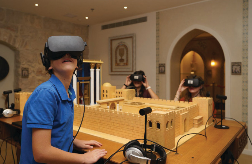 THE HEBREW Music Museum offers visitors VR options to learn of the music once played in the Temple. (photo credit: ITAY NADAV)