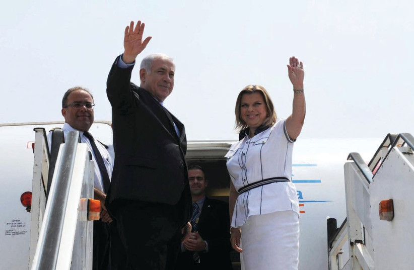 ARE PRIME MINISTER Benjamin Netanyahu and his wife, Sara, going to be saying goodbye soon? (photo credit: AMOS BEN-GERSHOM/GPO)