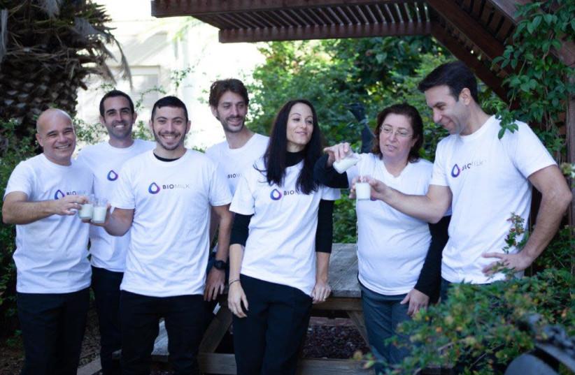 The BioMilk team (photo credit: LIBI KATAN NAOR)