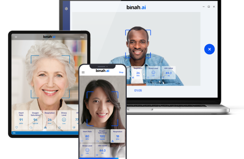 Binah.ai's technology identifies key vital health signs by analyzing a photo (photo credit: Courtesy)