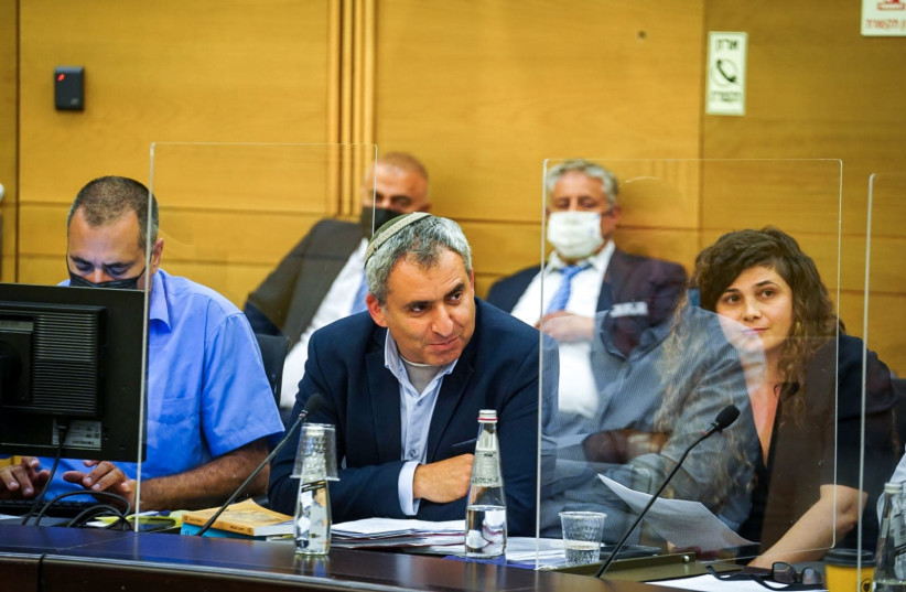 New Hope MK Ze'ev Elkin is seen at a meeting of the Knesset Arrangements Committee. (photo credit: NOAM MOSKOWITZ)