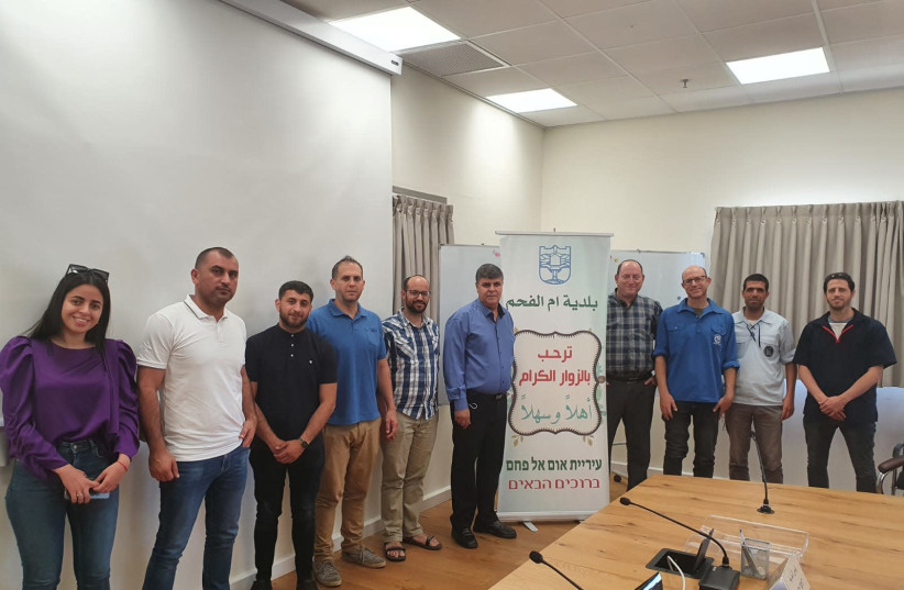 Council of Mission-Driven Communities in a solidarity visit to Umm al-Fahm (photo credit: Courtesy)
