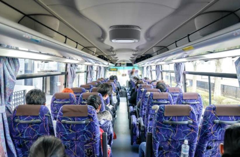 The Aura Air system on a bus (photo credit: AURA SMART AIR)