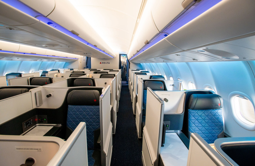 The interior of Delta's new Airbus A330-900neo aircraft. (photo credit: DELTA AIRLINES)