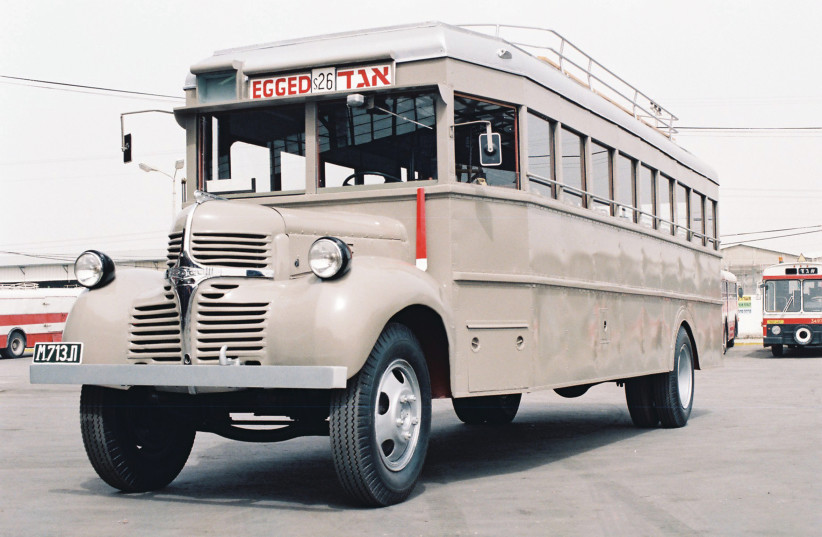 'A FEW minutes later we boarded an Egged bus that mercifully stopped for us.' (photo credit: Wikimedia Commons)