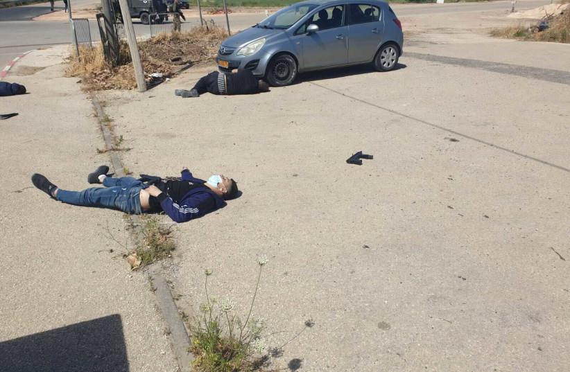 Des coups de feu ont été tirés sur l'avant-poste de Salem et deux terroristes ont été tués le 7 mai 2021. (Crédit photo: Autorisation)