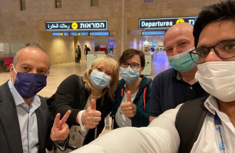 Hadassah-University Medical Center doctors fly to Argentina on May 7, 2021 (photo credit: COURTESY HADASSAH)