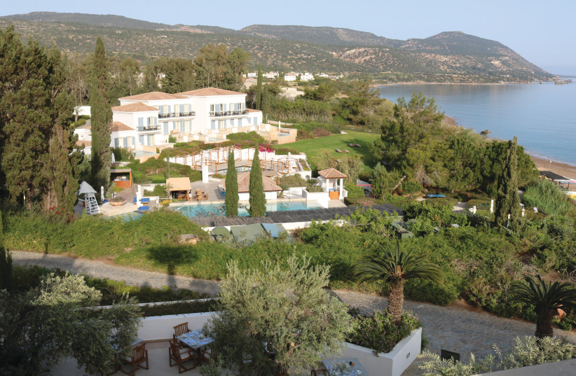 THE ANASSA HOTEL is nestled between the mountains and the sea and is arranged like a traditional Cypriot village.  (photo credit: HADASSAH BRENNER)