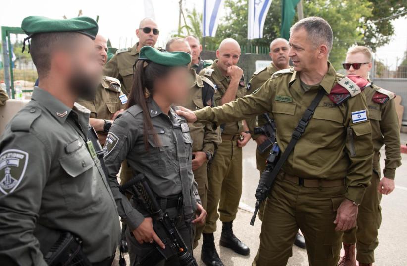 IDF Chief of Staff Lt.-Gen. Aviv Kohavi holds a  situational assessment at the Salem base in the Menashe Regional Brigade, Sunday, May 9, 2021. (photo credit: IDF SPOKESMAN'S UNIT)