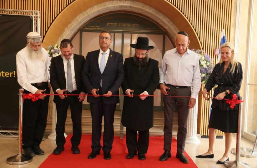 Former and current Jerusalem mayors open the Chain of Generations visitor center for Jerusalem Day (photo credit: JERUSALEM MUNICIPALITY)
