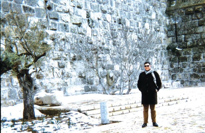 The writer at Jaffa Gate, Jerusalem, January 1969. (photo credit: Courtesy)