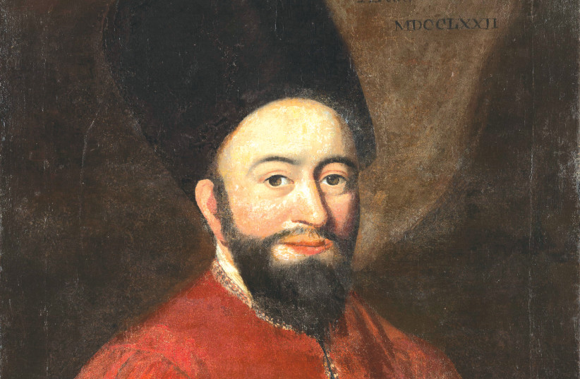 Rabbi Raphael Karigal (Carregal) by Samuel King. Carregal, who was born in Hebron in 1733 and died in Barbados in 1777, was the first rabbi to visit the colonies that became the United States. (photo credit: Wikimedia Commons)