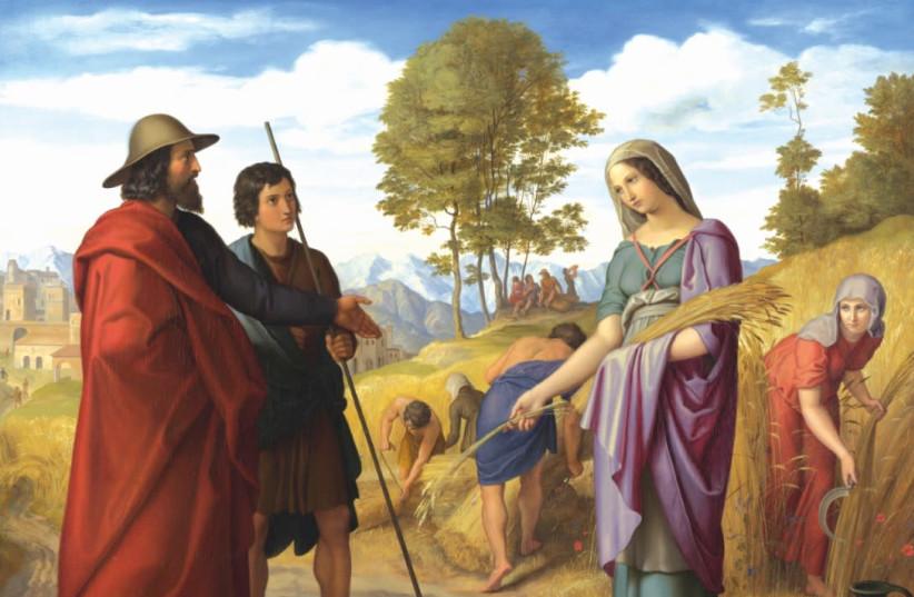 'Ruth in Boaz's Field' by Julius Schnorr von Carolsfeld, 1828. (photo credit: Wikimedia Commons)