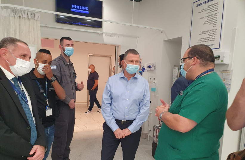 Rockets fired at Ashdod as health minister visits local hospital