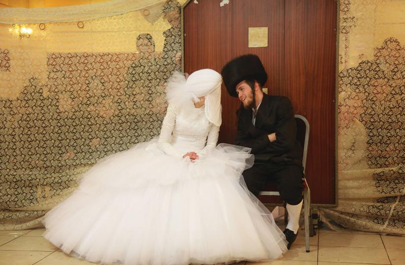 An Ultra-orthodox wedding in Bnei Brak, illustrative (photo credit: MARC ISRAEL SELLEM/THE JERUSALEM POST)