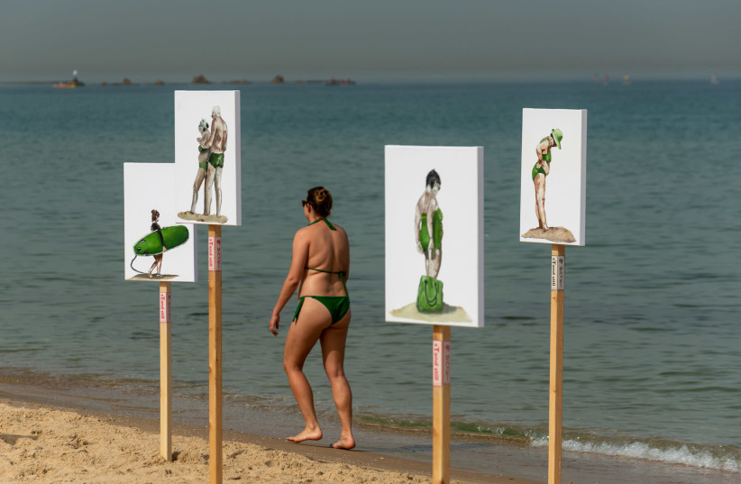 sTand still outdoor exhibit (photo credit: SIGALIT AHARONI)