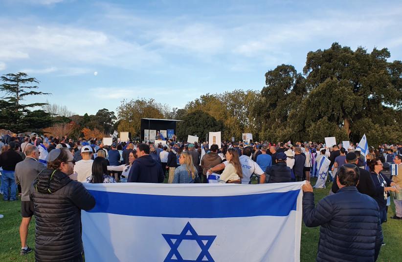 Solidarity rallies in Australia following Israel-Gaza violence (credit: BREN CARLILL)