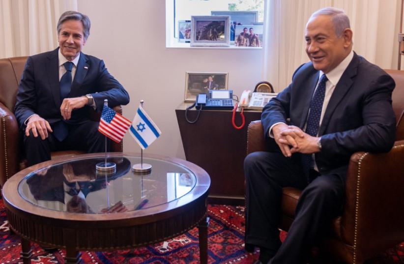US Secretary of State Antony Blinken meets with Prime Minister Benjamin Netanyahu (photo credit: US GOVERNMENT)