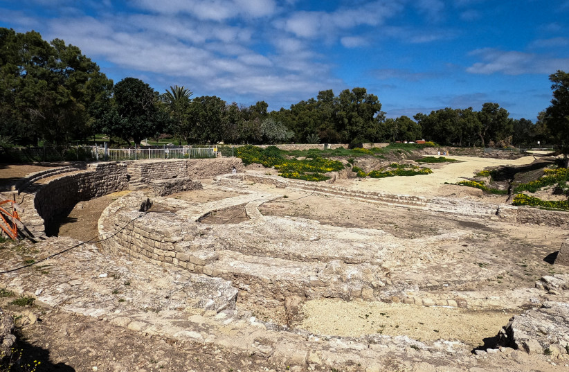 The Basilica and the Odeon Complex in the Tel Ashkelon National Park (photo credit: YANIV COHEN/NATURE AND PARKS AUTHORITY)