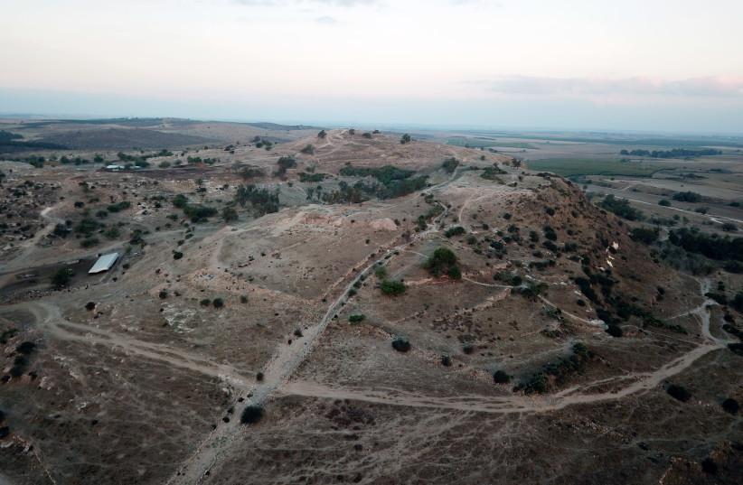 Aerial photo of Tell es-Safi/Gath. (photo credit: PROF. AREN M. MAEIR - THE TELL ES-SAFI/GATH ARCHAEOLOGICAL PROJECT - BAR-ILAN UNIVERSITY)