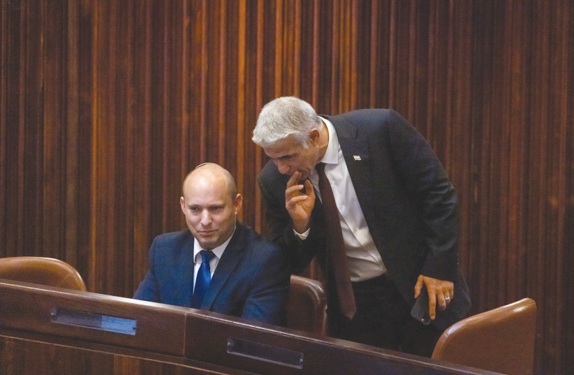 The Bennett-Lapid moment. (photo credit: OLIVIER FITOUSSI/FLASH90)