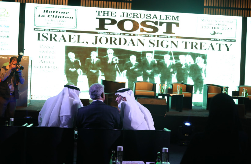 AT THE Global Investment Forum in Dubai in early June, presented by 'The Jerusalem Post' and the 'Khaleej Times. (photo credit: MARC ISRAEL SELLEM)