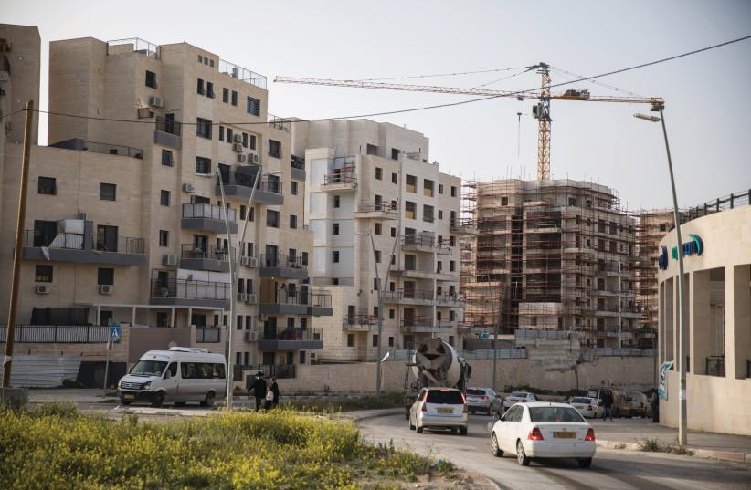 HOUSING GOES up in the new neighborhood of Ramat Beit Shemesh Bet, 2019.  (photo credit: HADAS PARUSH/FLASH90)