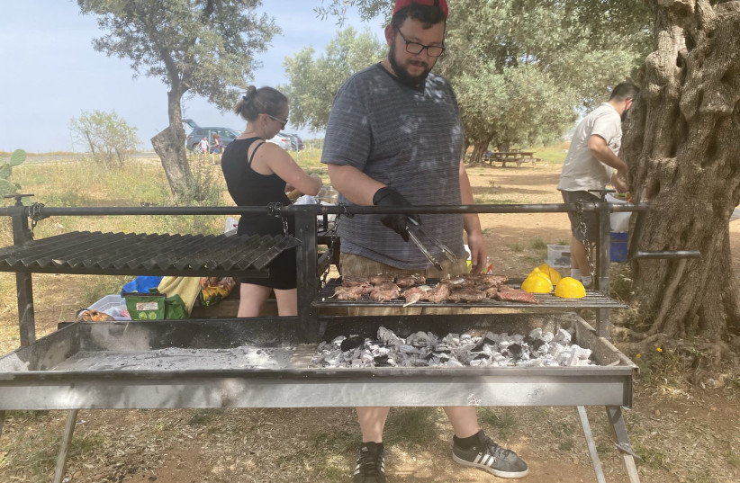 Time off in Nazareth, grilling. (photo credit: MEITAL SHARABI AND ITAI SIKOLSK)
