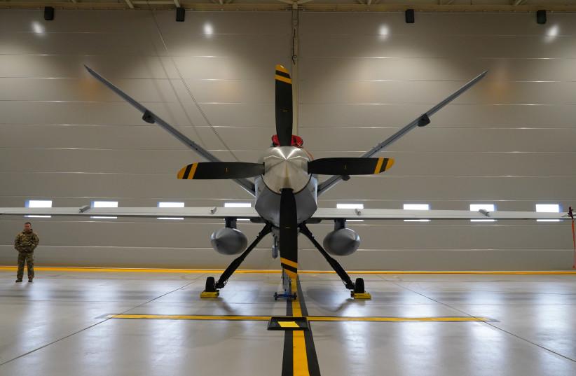 US Air Force MQ-9 Reaper drone  (photo credit: JANIS LAZIANS/REUTERS)