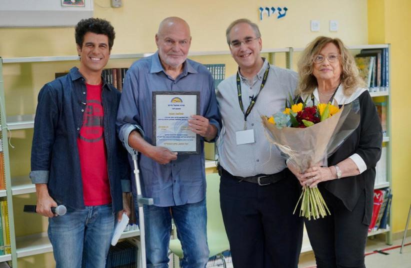 Tal Mosseri, Shlomo Abas, Dan Futterman, director-general of the Israel Center for Education Innovation and Etty Buckspan, pedagogical director of the Israel Center for Education Innovation (photo credit: ILAN SAPIRA)