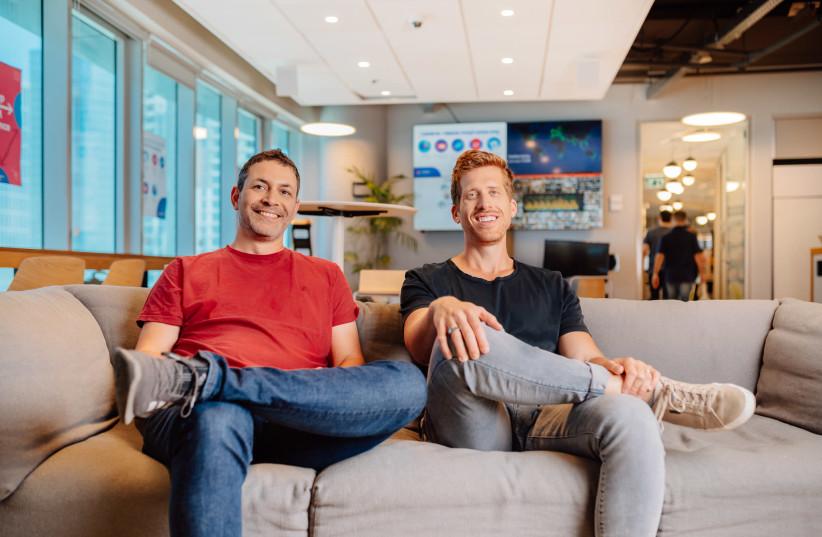 monday.com founders Roy Mann & Eran Zinman (photo credit: NETANEL TOBIAS)