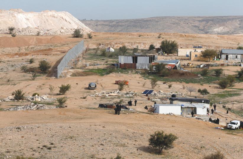UMM AL-HIRAN, a Bedouin village in the southern Negev. (photo credit: AMMAR AWAD/REUTERS)